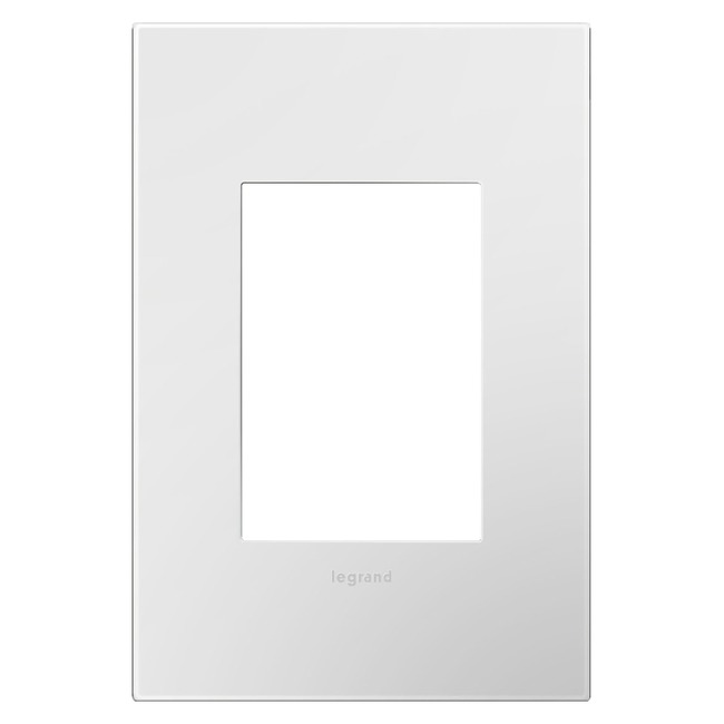 Adorne Plastic Screwless 1-Gang Plus Size Wall Plate  by Legrand Adorne