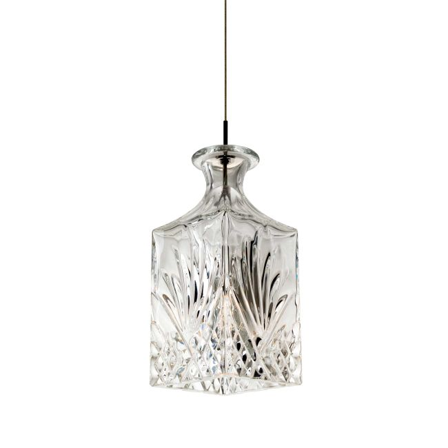Fast Jack Crystal Vase Square Pendant by PureEdge Lighting | FJ-VASE1-SN