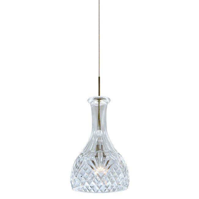 Fast Jack Crystal Vase Round Pendant  by PureEdge Lighting