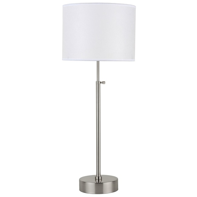 CanCan Adjustable Table Lamp by Lights Up | RS-434BN-WHT