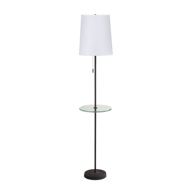 Zoe Floor Lamp with Tray by Lights Up | ZO-923AI-WHT