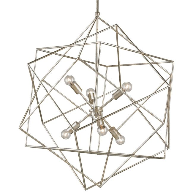 Aerial 6 Light Chandelier  by Currey and Company