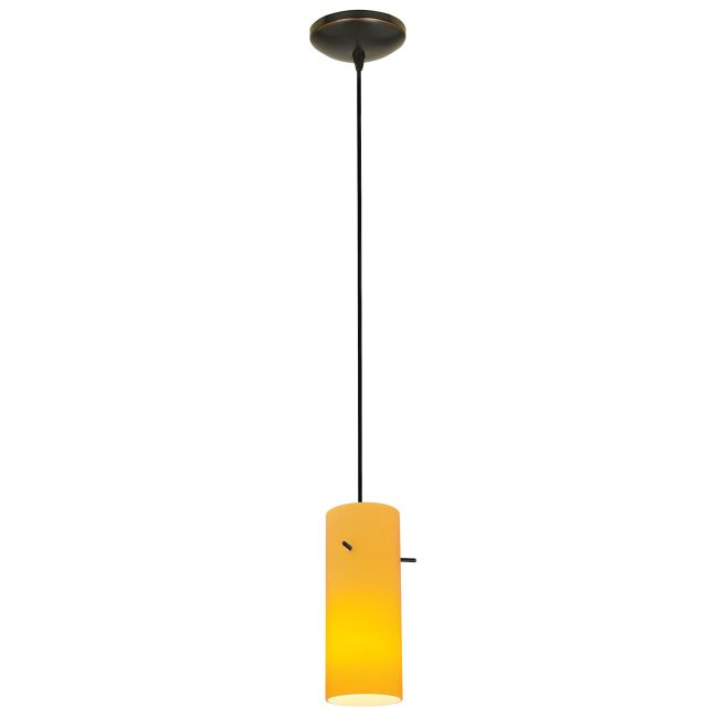 Glass Cylinder Cord Pendant by Access   28030-1C-ORB/AMB