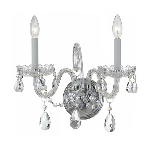 Traditional Crystal 1032 Wall Sconce by Crystorama | 1032-CH-CL-MWP