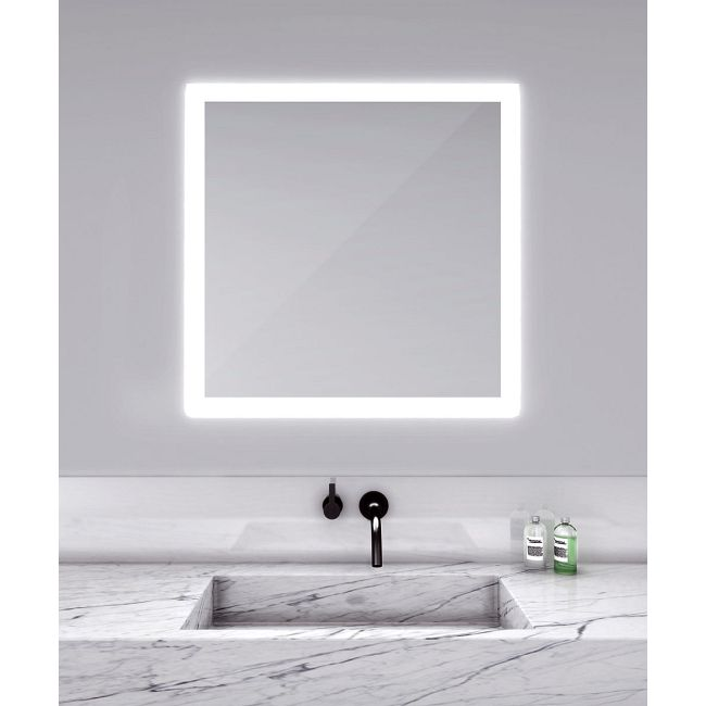 Silhouette Square Lighted Mirror  by Electric Mirror