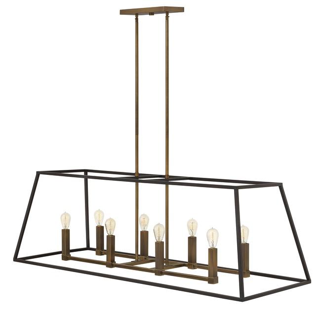 fulton double linear chandelier by hinkley lighting 3338bz