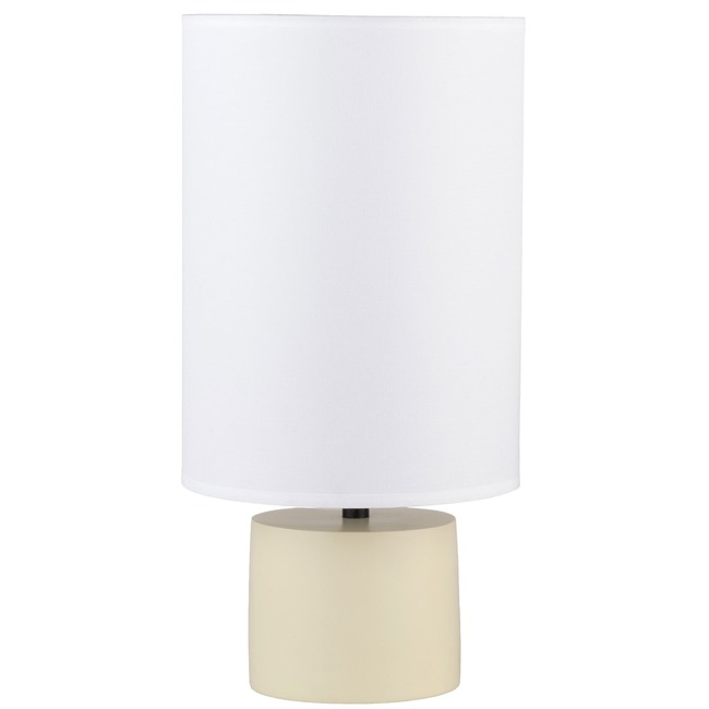 Devo Round Table Lamp by Lights Up   RS-270SO-WHT