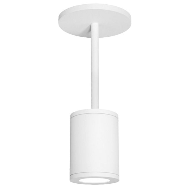 Tube 85CRI Flood Beam Outdoor Architectural Pendant by WAC Lighting | DS-PD05-F27-WT
