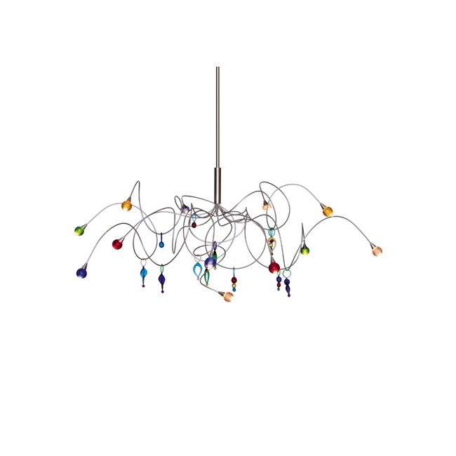 Strawberry 12 Light Chandelier by Harco Loor | strawberry hl 12