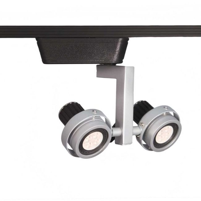 J Series 817 LED Double Droid Track Head by WAC Lighting   JHT-817LED-PT/BK