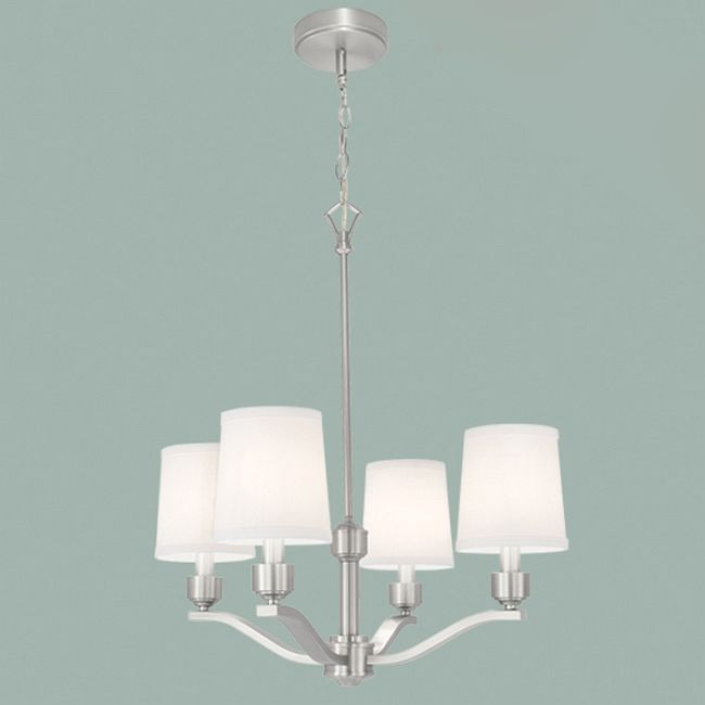 Roule Chandelier by Norwell Lighting | 5614-BN-WS