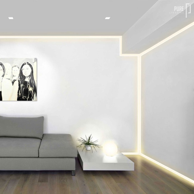 Verge Wall 2.5W Plaster-In System  by PureEdge Lighting