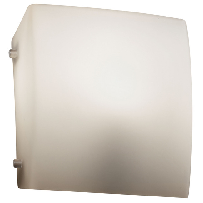 Fusion Square ADA LED Wall Sconce by Justice Design | FSN-5120-OPAL-NCKL-L-10
