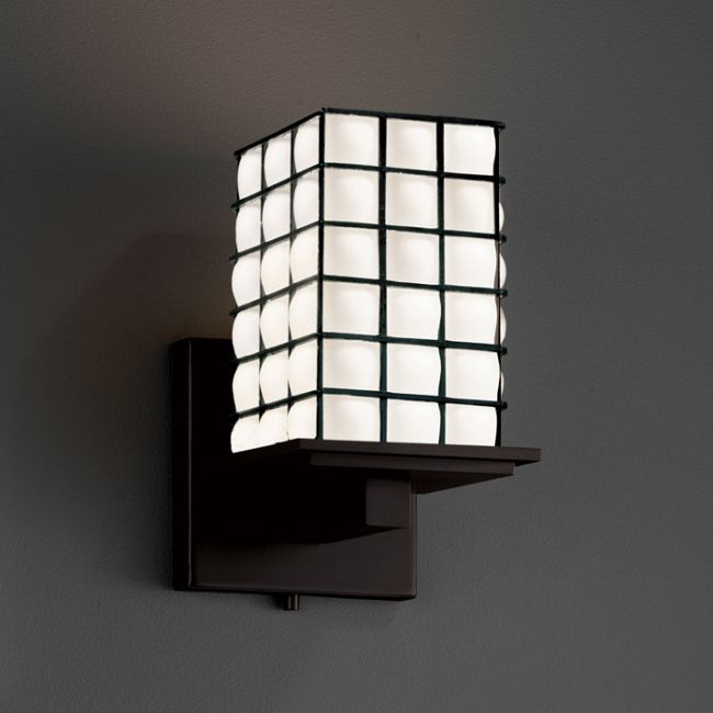 Montana Square Flat Rim Wire Wall Sconce  by Justice Design