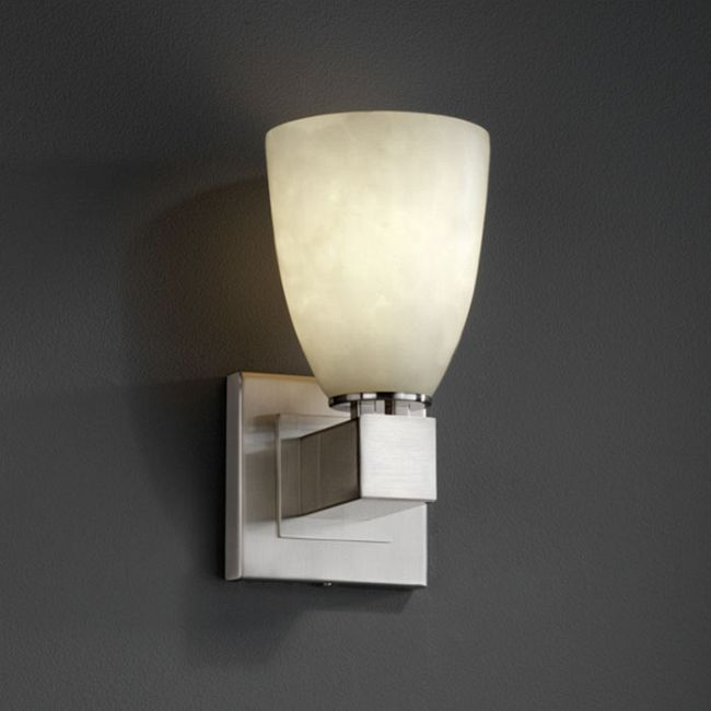 Aero Short Tapered Wall Sconce by Justice Design   CLD-8705-18-NCKL