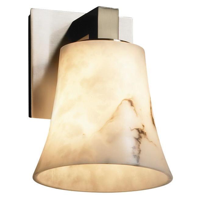 Modular Round Flared Wall Sconce by Justice Design   FAL-8921-20-NCKL