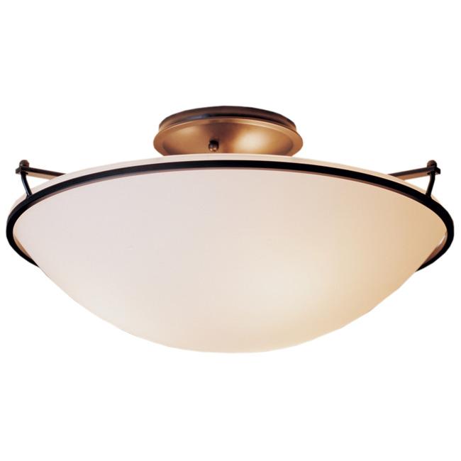 Plain Large Semi Flush Ceiling Light by Hubbardton Forge | 124304-1004