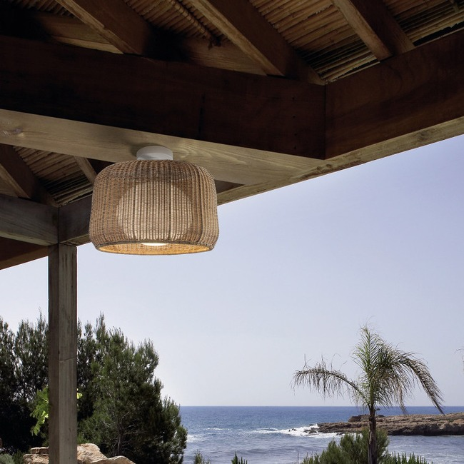 Fora Outdoor Ceiling Light Fixture by Bover | 5130301U+P-695C