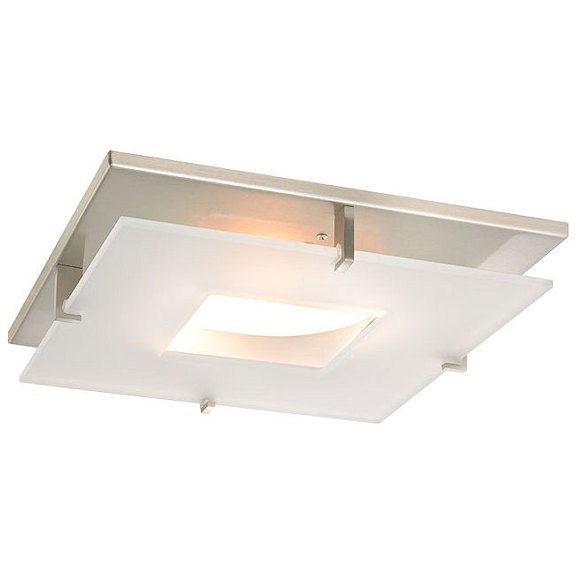 Plaza Ceiling Flush Mount Trim Cover w/Downlight Opening  by Recesso Lights
