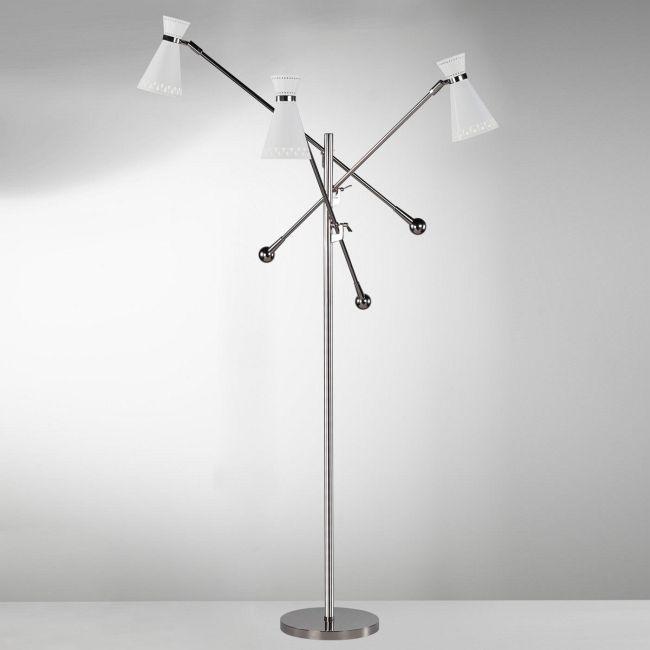 Havana 3 Arm Floor Lamp by Jonathan Adler | RA-W696