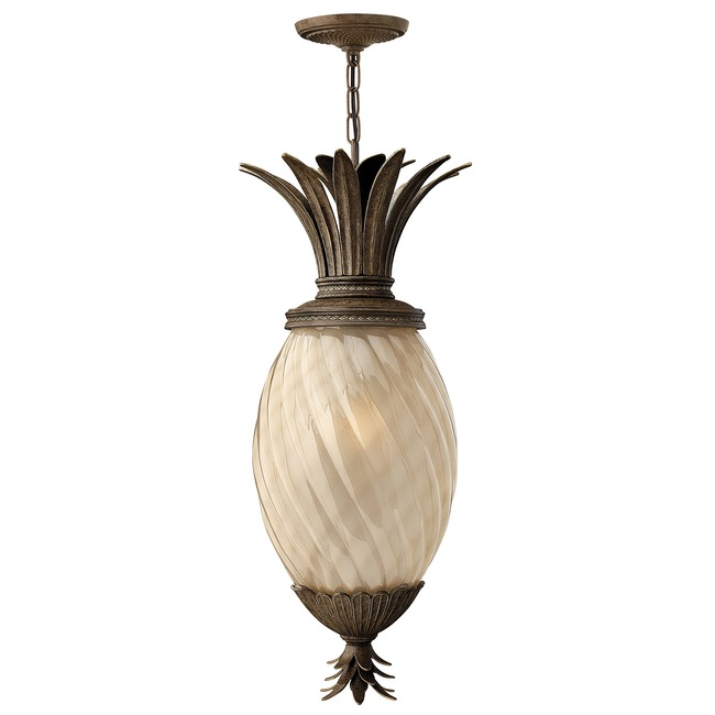Plantation Outdoor Pendant Amber Optic  by Hinkley Lighting