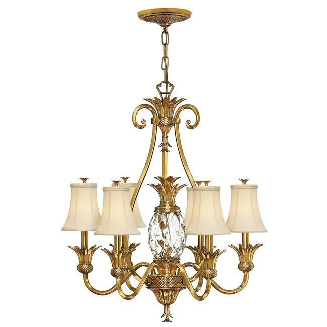 Plantation 7 Light Shades Chandelier  by Hinkley Lighting