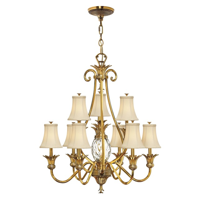 Plantation 10 Light Shades Chandelier  by Hinkley Lighting