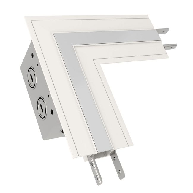 TruLine .5A L-Picture Frame Power Channel Connector  by PureEdge Lighting | TL.5A-LP