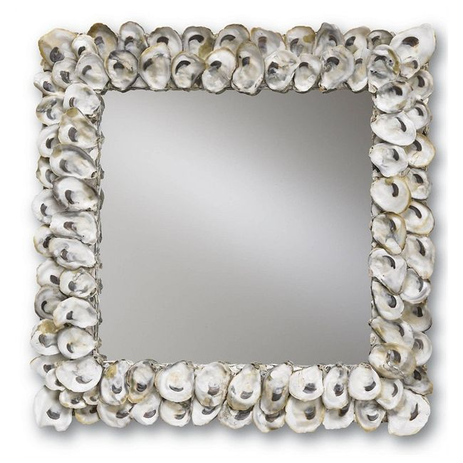 Oyster Shell Wall Mirror  by Currey and Company