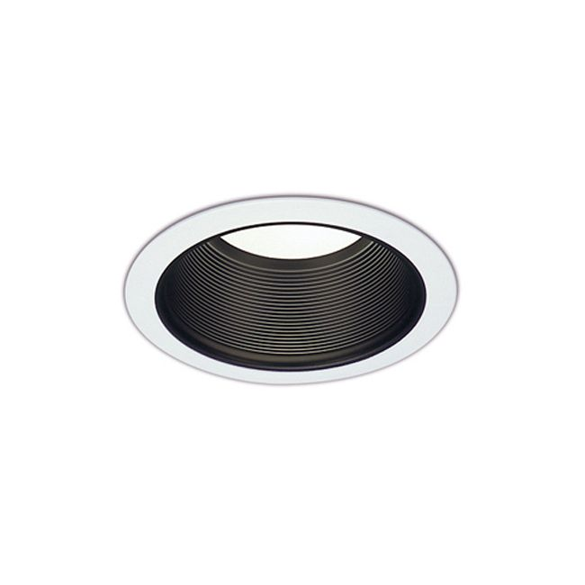 CTR3801 6 Inch Tapered Black Baffle Downlight Trim by ConTech | CTR3801-P