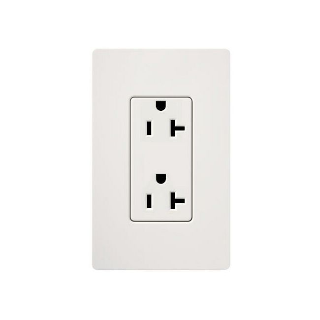 Claro 20A Tamper Resistant Receptacle  by Lutron