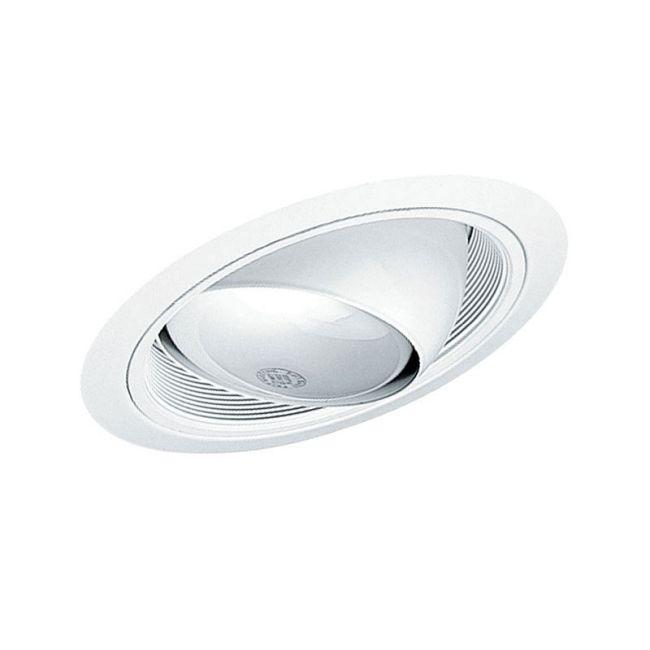 619 6 Inch Standard Slope Eyeball Baffle Trim  by Juno Lighting | 619WWH