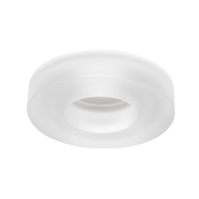 4180 Series 4 Inch Frost Solid Glass Collar Trim  by Juno Lighting