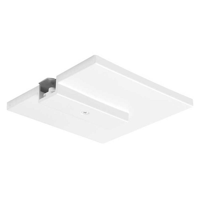 Trac 12/25 End Feed Connector with J-Box Cover by Juno Lighting | TLR21WH