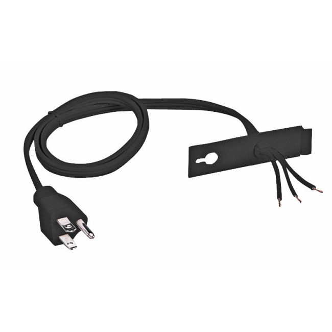Cord and Plug 3-Wire Grounded 6 Foot by Juno Lighting   U6CPBL