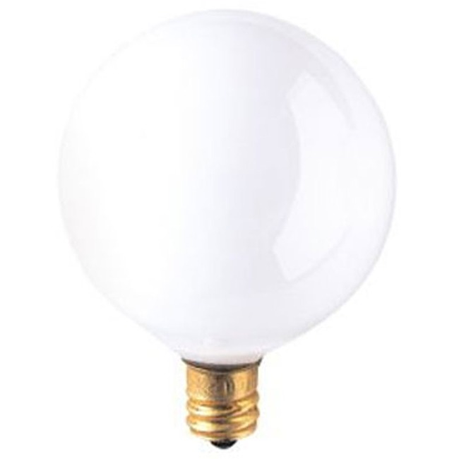 G16.5 Candelabra Base Globe 15W 130V  by Bulbrite