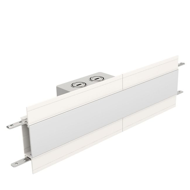TruLine 1.6A Center Feed Power Channel Connector  by PureEdge Lighting