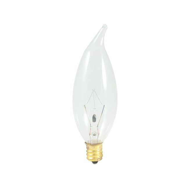 CA10 Flame Tip Candelabra Base 40W 120V by Bulbrite | 493040