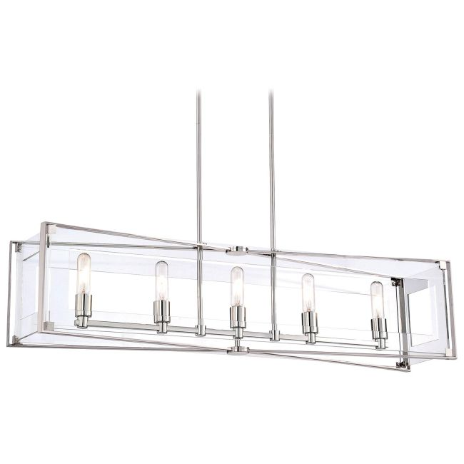 Crystal-Clear Linear Pendant  by George Kovacs