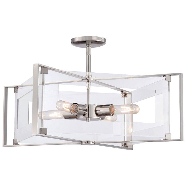 Crystal-Clear Convertible Semi Flush Mount  by George Kovacs