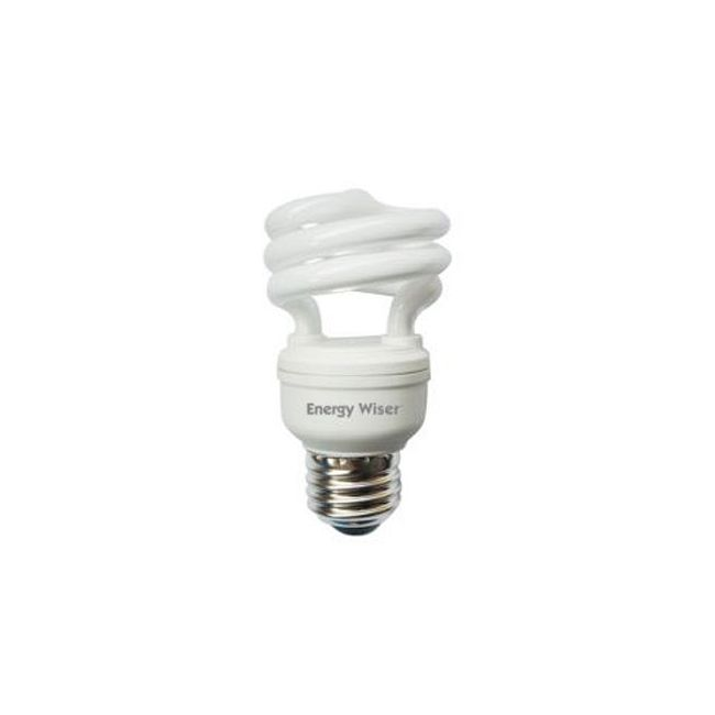 T2 Coil Med Base CFL 9W 120V 2700K 80CRI  by Bulbrite