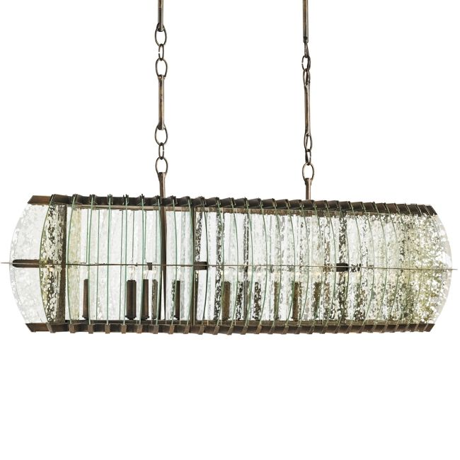 Zanzibar Rectangle Chandelier  by Currey and Company