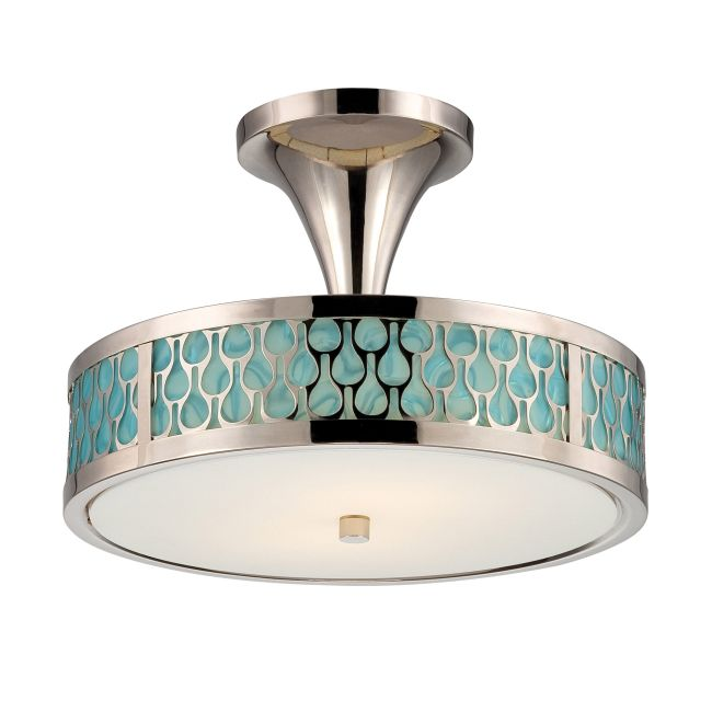 Raindrop Ceiling Semi Flush Mount  by Satco