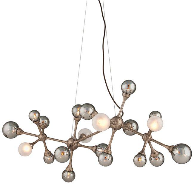 Element Linear Chandelier  by Corbett Lighting