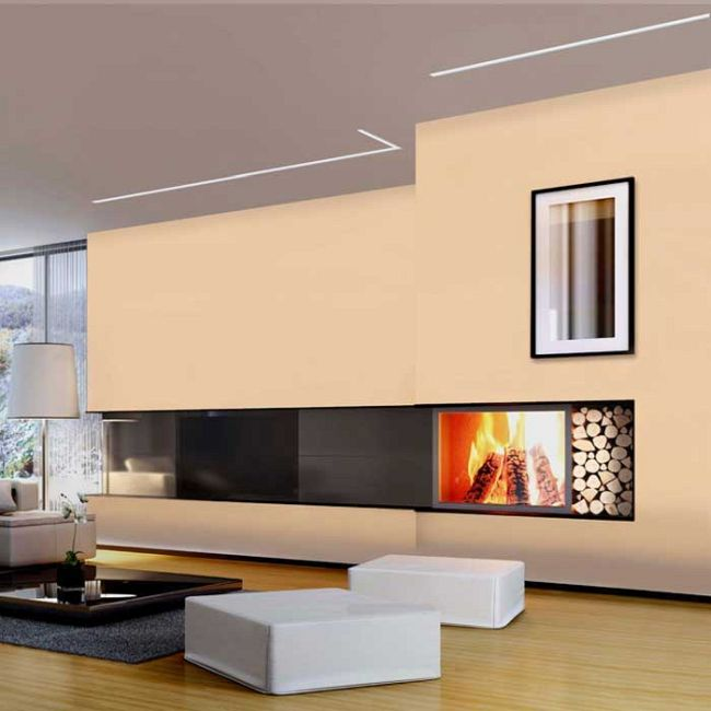 Reveal Wall Wash 5W RGB Plaster-In System  by PureEdge Lighting