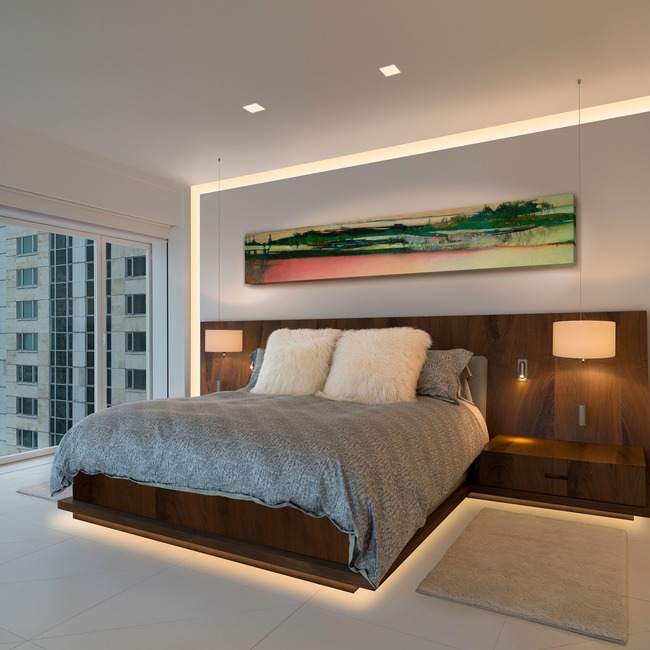 Verge Wall 5W 2K4K Variable White Plaster-In System  by PureEdge Lighting