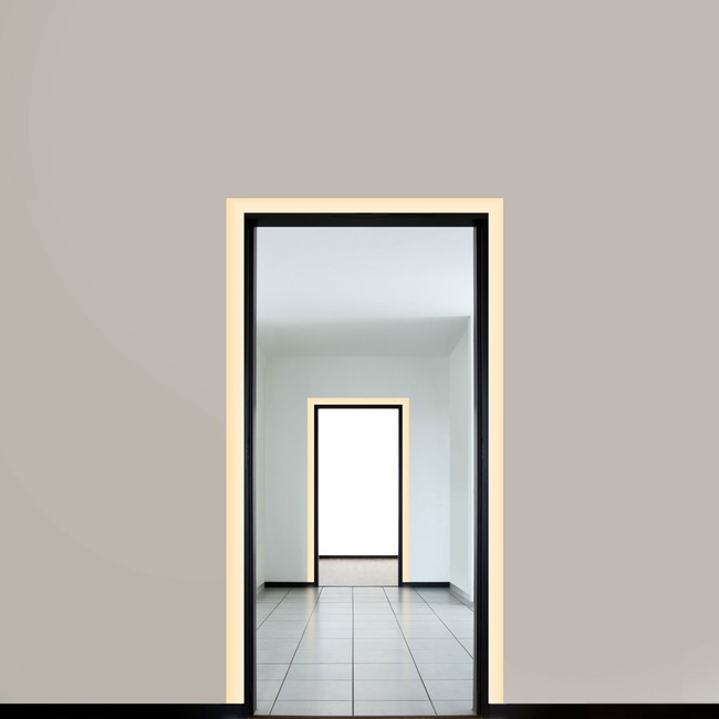 Verge Door Frame 5W 2K4K Tunable White Plaster-In System  by PureEdge Lighting