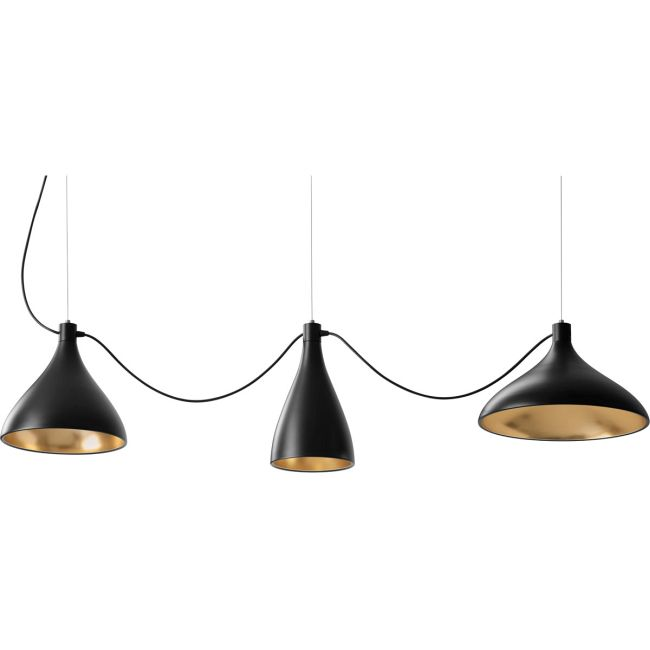 Swell String Mixed Multi Light Pendant  by Pablo