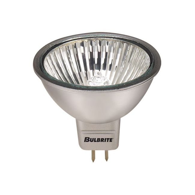 MR16 GU5.3 Base Silver 50W 12V 24Deg 2900K  by Bulbrite
