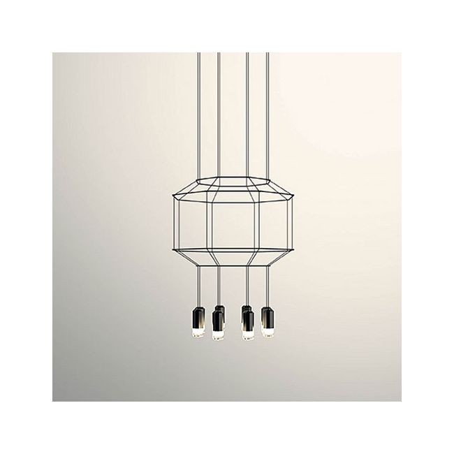 Wireflow Octagonal Pendant by vibia  by Vibia
